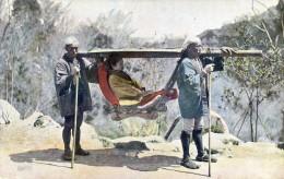 Chaise à Porteurs Dans La Montagne - Postcards