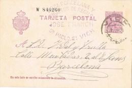 10554. Entero Postal VICH  (Barcelona) 1929. Comercial Porcelana Y Regalos - Enteros Postales