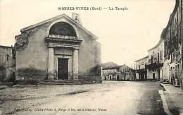 Depts Divers - Gard  - Ref T536 - Aigues Vives - Le Temple - Temples - Carte Bon Etat - - Aigues-Vives