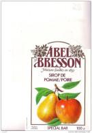 SIROP De POMME   /  POIRE   -  ABEL BRESSON  - Spécial Bar - Fruits & Vegetables