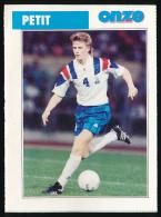 Sport, Football (1997) : EMMANUEL PETIT, Arsenal (recto-verso) - Calcio