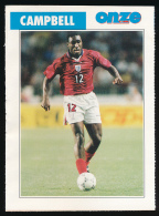 Sport, Football (1997) : SOL CAMPBELL (Angleterre), Tottenham Hotspur (recto-verso) - Calcio