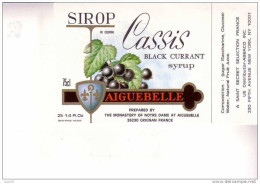 SIROP CASSIS  - Black Currant  - AIGUEBELLE - Fruits & Vegetables