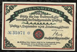 BILLET DE NECESSITE .PASING . 50 PFENNIG  1918 . - [11] Emissions Locales