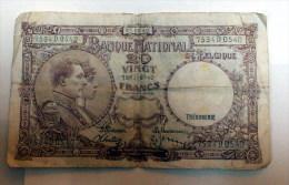 Biljet 20 Fr Van 05/02/1940 - [ 2] 1831-... : Belgian Kingdom