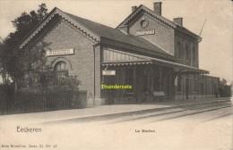 CPA  EECKEREN LA STATION NELS BRUXELLES - Belgium