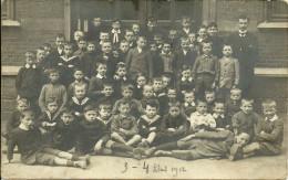 A identifier - Belgique - Groupe d��l�ves de 3em et 4eme classe Ann�e 1912