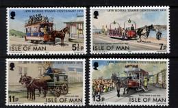 GB ISLE OF MAN IOM - 1976 TRAMS SET (4V) FINE MNH ** SG 80-83 - Tramways
