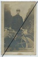 Carte Photo - Cycliste,vélo Ancien- - Cycling