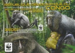 cdr12113b R.D. Congo 2012 WWF monkey s/s Yver & Tellier:103