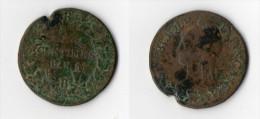 A voir: tr�s rare refrappage du Decime pour Cinq  Centimes Dupr� An 5 Atelier B Rouen 1797