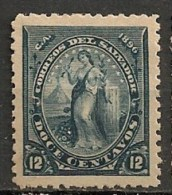 Timbres - Amérique - Salvador - 1896 - 12 C. - - Salvador