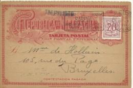 1952  Carte Postal De Nicaragua Utilisé En Belgique Par La Société Belge De L'Entier Postal - Otros