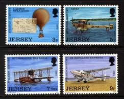 GB JERSEY - 1973 AVIATION SET (4V) FINE MNH ** - Jersey