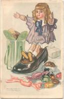 Illustrateur MAUZAN (Nº 53-3) - Poupée Dans Une Chaussure, Cadeaux, Friandises - Mauzan, L.A.