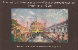 CPA LITHO WERELD TENTOONSTELLING GENT 1913 EXPOSITION UNIVERSELLE GAND 1913 - Expositions