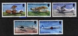 GUERNSEY - 1973 AIR SERVICES (5V) FINE MNH ** - Guernsey