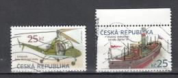 Ceska Republika 2013 Mi Nr 756+757 Verkeersvoertuigen Helicopter + Boot - Tsjechië