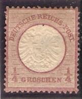 1872 Yvert 13 * 1/4 Groschen Neuf - Neufs
