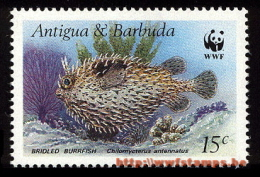 50% DISCOUNT WWF - ANTIGUA & BARBUDA - 1987 - Stamp - Official Stamp Set - - W.W.F.