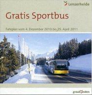 Fahrplan Sportbus Lenzerheide Postauto Car Postal - Europe