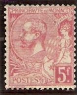 1891-94 Yvert 21** 5.-fr Rose/vert Neuf - Neufs