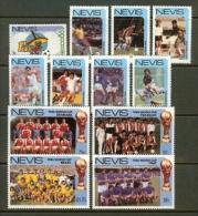 NEVIS, 1986, Mint Never Hinged Stamp(s), MI Nr, 377-388, #6333 - St.Kitts En Nevis ( 1983-...)