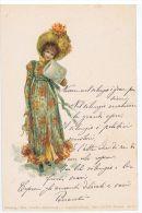 1900s THEO STROEFER'S ART NOUVEAU POSTCARD - WOMAN & FLOWERS - SERIES XXXVII /17 - Illustrateurs & Photographes