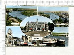 ELBEUF  -   5 Vues :  Vallée De La Seine -  Vue Générale -  Hôtel De Ville  - Eglise St Jean -  Péniches -  Pont - Elbeuf