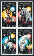 BL3-409 DDR, EAST GERMANY 1978 MI 2364-2367st ZIRKUS, CIRCUS, CIRQUE. MNH, POSTFRIS, NEUF**. - Circo