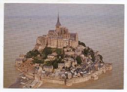 50 - Le Mont Saint Michel (Manche) - Texte De Maupassant (vue Aérienne à Marée Haute) - Le Mont Saint Michel
