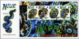 50% DISCOUNT WWF - NIUE - 2002 - Local FDC - 1 LS On 1 FDC - 2 Cancels - Ohne Zuordnung