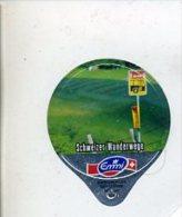 Kaffeerahm-Deckel Emmi Schweizer Wanderwege Postauto Haltestelle - Milk Tops (Milk Lids)