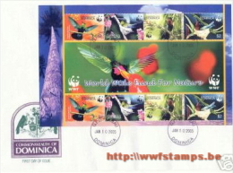 50% DISCOUNT WWF - DOMINICA (C) - 2005 - Local FDC - Sheetlet With 2 Sets On FDC - Red Sign Of Ghana On Cover - 4 Loc... - Ohne Zuordnung