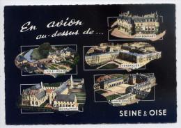 Région Ile De France-En Avion Au-dessus De..L'ISLE-ADAM,ROYAUMONT,RAMBOUILLET,VERSAILLES,DAMPIERRE,cpsm 15 X 10 éd LAPIE