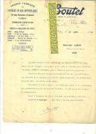 03 - Allier - VICHY - Facture BOUTET - Fabrique De Panneaux En Bois Contreplaqués – 1922 - REF 115 - France