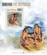gb13402b Guinea Bissau 2013 Prehistoric humans s/s