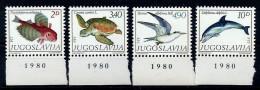 Yugoslavia 1980: Fauna; Mediterranean Marine Life. MNH(**) - 1945-1992 Repubblica Socialista Federale Di Jugoslavia