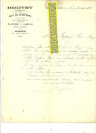 71 - Saône-et-loire - MARCILLY-LES-BUXY - Facture DEGIVRY - Charpentier – 1914 - REF 115 - France