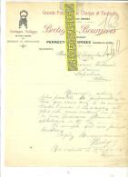 71 - Saône-et-loire - PERRECY-LES-FORGES - Facture BRETIGNY-BOURGEOIS - Fabrique De Chaises – 1916 - REF 115 - France