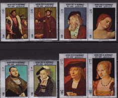 Kathiri In Hadhramaut 1968  Tableaux Des Maîtres Allemands Dürer, Cranach, Holbein, Baldung  Mi: 210-7 ** - Yemen