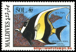 """""""50% DISCOUNT WWF - MALDIVES - 1986 - Stamp - Official Stamp Set -"""" - W.W.F."""