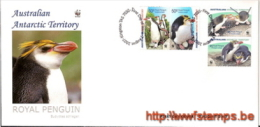 """""""50% DISCOUNT WWF - AUSTRALIAN ANTARCTIC TERRITORY - 2007 - Local FDC - 4 Stamps On 1 FDC - Penguin Head - 2 Egg Canc... - Ohne Zuordnung"""