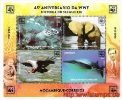 """50% DISCOUNT WWF - MOZAMBIQUE - 2006 - Miniature Sheet - Miniature Sheet - 4on1"" - W.W.F."