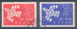 Europa 1961 Grèce YT N°753/754 Oblitéré ° - Europa-CEPT