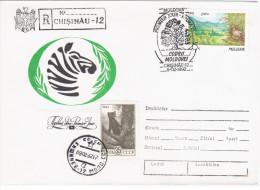Moldova USSR 1992 Fauna Bird Birds Zebra Sable, Canceled In Chisinau Kishinev - Moldova
