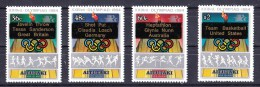 Aitutaki 1984 XXIII Olympic Games Los Angeles Set Of 4 Overprinted Winners MNH - Aitutaki