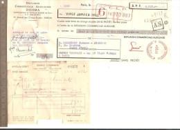 LETTRE DE CHANGE 20 Janvier 1952 DICOMA Sur M. Chennedet EBENISTE Avec Avis De Débit ET PERFORATION - Lettres De Change