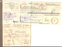 LETTRE DE CHANGE 25 Octobre 1951 DICOMA Sur M. Chennedet EBENISTE Avec Avis De Débit ET PERFORATION - Lettres De Change