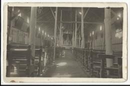 HABAY-LA-NEUVE - Photo-carte Intérieur Chapelle Ou église Phot Gavroy Haby (Pensionnat Hachy ?) - Habay